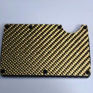 Carbon Fiber 3K RFID Slim Design Wallet Money Clip